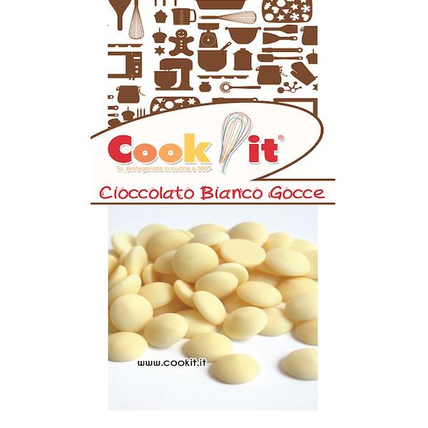 Cioccolato bianco in gocce 400gr